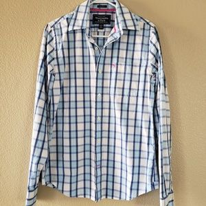 Abercrombie & Fitch Plaid Button Down Shirt. Sz M.